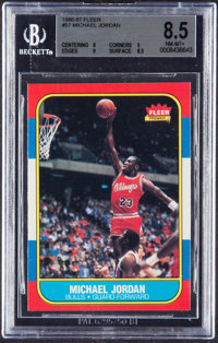 1986 Fleer Michael Jordan #57 BGS NM-MT+ 8.5