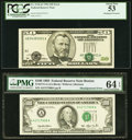 Shifted Third Printing Error Fr. 2126-B $50 1996 Federal Reserve Note. PCGS About New 53; Shifted Third Printing Error F...