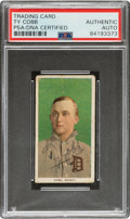 Baseball Cards:Singles (Pre-1930), Signed 1909-11 T206 Ty Cobb Green Portrait, PSA/DNA Authentic....