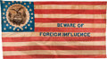Political:Textile Display (pre-1896), [Henry Clay]: Large and Important 1844 Native American Parade Flag....