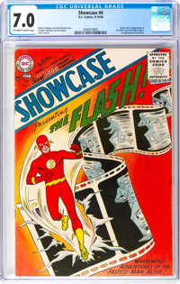 Showcase #4 The Flash (DC, 1956) CGC FN/VF 7.0 Off-white to white pages