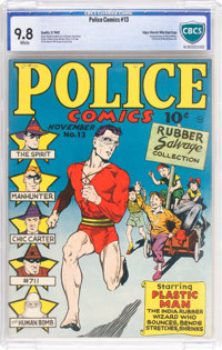 Police Comics #13 Mile High Pedigree (Quality, 1942) CGC NM/MT 9.8 White pages