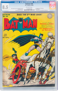 Batman #24 (DC, 1944) CGC VF+ 8.5 Off-white pages