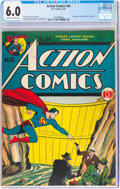 Golden Age (1938-1955):Superhero, Action Comics #34 (DC, 1941) CGC FN 6.0 Off-white to white pages....