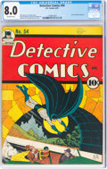 Golden Age (1938-1955):Superhero, Detective Comics #54 (DC, 1941) CGC VF 8.0 Off-white pages....