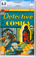 Golden Age (1938-1955):Superhero, Detective Comics #52 (DC, 1941) CGC FN+ 6.5 Off-white to white pages....