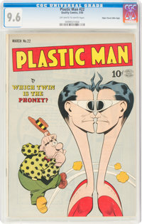 Plastic Man #22 Mile High Pedigree (Quality, 1950) CGC NM+ 9.6 Off-white to white pages