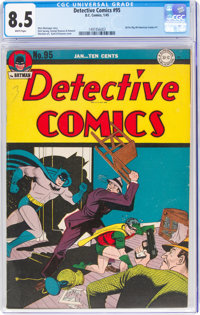 Detective Comics #95 (DC, 1945) CGC VF+ 8.5 White pages