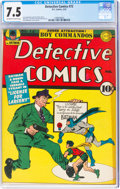 Golden Age (1938-1955):Superhero, Detective Comics #72 (DC, 1943) CGC VF- 7.5 Off-white to white pages....