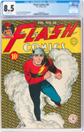 Golden Age (1938-1955):Superhero, Flash Comics #26 (DC, 1942) CGC VF+ 8.5 Off-white pages.