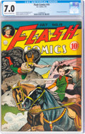 Golden Age (1938-1955):Superhero, Flash Comics #19 (DC, 1941) CGC FN/VF 7.0 Cream to off-white pages....