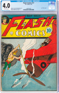Golden Age (1938-1955):Superhero, Flash Comics #17 (DC, 1941) CGC VG 4.0 Off-white pages....