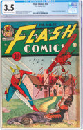 Golden Age (1938-1955):Superhero, Flash Comics #14 (DC, 1941) CGC VG- 3.5 Cream to off-white pages....