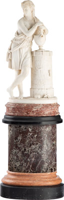 After Carmelo Fontana (Italian, 1785-1825) Rebecca at the Well, circa 1870 Marble 39-1/4 inches (
