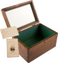 Antiques:Folk Art, Abraham Lincoln: Box Made Of Wood From The Interior Of Lincoln's Funeral Car....