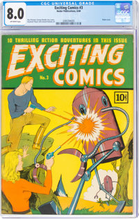 Exciting Comics #3 (Nedor/Better/Standard, 1940) CGC VF 8.0 Off-white pages