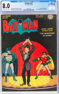 Batman #22 (DC, 1944) CGC VF 8.0 Off-white to white pages