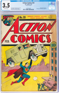 Action Comics #33 (DC, 1941) CGC VG- 3.5 Off-white pages