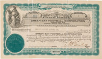 1923 Green Bay Packers Stock Certificate