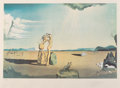 Salvador Dalí (1904-1989) Les bêtes sauvages dan le desert, 1975 Photolithograph in colors on Arches paper...
