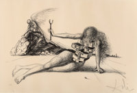 Salvador Dalí (1904-1989) Drawers of Memory, 1965 Lithograph on Rives BFK 25 x 37-3/4 inches (63