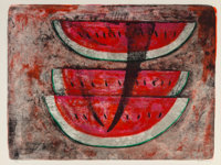 Rufino Tamayo (1899-1991) Pastèque #1, 1969 Lithograph in colors on Rives BFK paper 22-1/2 x 29-7