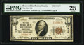 National Bank Notes:Pennsylvania, Beaverdale, PA - $10 1929 Ty. 1 The First National Bank Ch. # 11317 PMG Very Fine 25.. ...