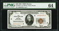 Fr. 1870-A $20 1929 Federal Reserve Bank Note. PMG Choice Uncirculated 64