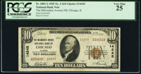 Chicago, IL - $10 1929 Ty. 2 The Milwaukee Avenue National Bank Ch. # 14245 PCGS Very Fine 25