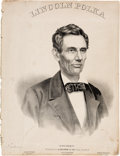 Political:Small Paper (pre-1896), Abraham Lincoln: 1860 Pictorial Campaign Sheet Music.