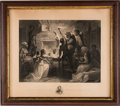 Political:Posters & Broadsides (pre-1896), Abraham Lincoln: Emancipation Proclamation Engraving. ...