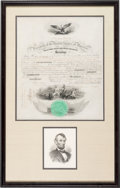 Autographs:U.S. Presidents, Abraham Lincoln: Signed Naval Appointment....
