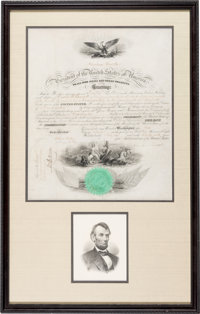 Abraham Lincoln: Signed Naval Appointment