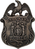 Miscellaneous:Ephemera, Law Enforcement: Early Brooklyn Police Presentation Badge....