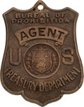 Political:Miscellaneous Political, Law Enforcement: 1920s Bureau of Prohibition Badge. ...