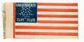 """Political:Ribbons & Badges, Henry Clay: Graphic and Rare New York City """"Flag"""" Ribbon.... (Total: 0 Items)"""