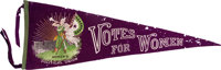 Woman's Suffrage: Large Graphic Votes Pennant