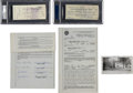 Football Collectibles:Others, 1959 Vince Lombardi Signed Deed to New Jersey Home Before Historic Move to Green Bay - With Signed Down Payment Check & Photo...