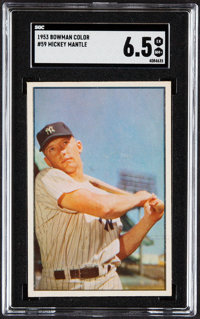 1953 Bowman Color Mickey Mantle #59 SGC EX/NM+ 6.5