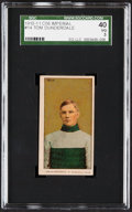 Hockey Cards:Singles (Pre-1960), 1910 C56 Tom Dunderdale #14 SGC 40 VG 3. ...