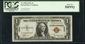 Small Size:World War II Emergency Notes, Fr. 2300 $1 1935A Hawaii Silver Certificate. PCGS About New 50PPQ.. ...