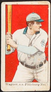 "1910 E102 ""Set Of 25"" Honus Wagner (Batting)"