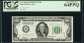 Fr. 2154-H $100 1934B Federal Reserve Note. PCGS Very Choice New 64PPQ