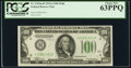 Fr. 2153-H $100 1934A Federal Reserve Note. PCGS Choice New 63PPQ