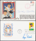Autographs:Post Cards, Mickey Mantle and Roger Maris Signed First Day Covers...