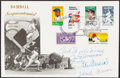Autographs:Post Cards, First Day Cover Signed by Ted Williams, Hank Aaron, Joe DiMaggio and Stan Musial. ...