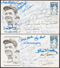 Autographs:Post Cards, 1983 Two Multi-Signed First Day Covers. ...