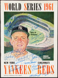Autographs:Others, 1961 World Series New York Yankees Multi-Signed Program....