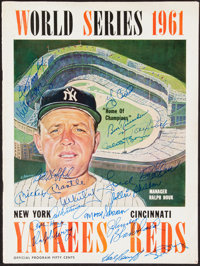 1961 World Series New York Yankees Multi-Signed Program