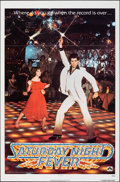 "Movie Posters:Drama, Saturday Night Fever (Paramount, 1977). Folded, Very Fine+. One Sheet (27"" X 41""). Drama.. ..."